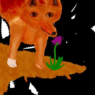 foxwithflower